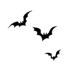 Black silhouettes of bats on a white background vector
