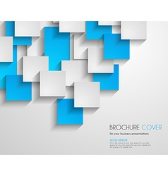Brochure Template for Business Flyer Cover Cards vector image
