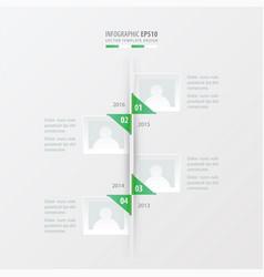 timeline green gradient color vector image vector image