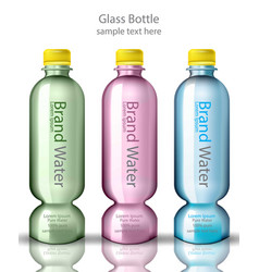 water bottles realistic design product vector image