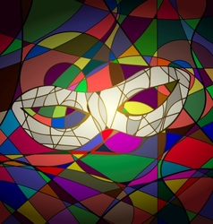 Abstract background white carnival mask vector