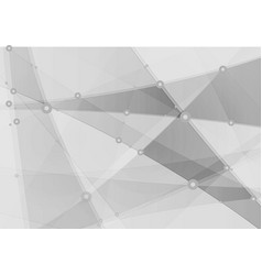 abstract grey polygonal technology background vector image