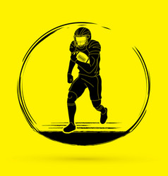 American football player action graphic vector