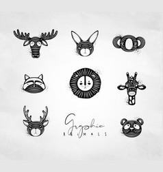 animals authentic graphic vector image
