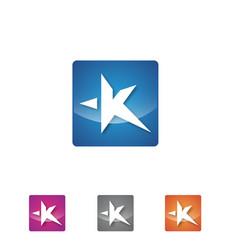 app letter k vector image