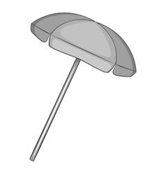 Beach umbrella icon gray monochrome style vector image