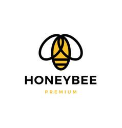 bee honey logo icon vector image