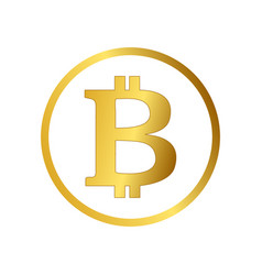 bitcoin icon cryptocurrency emblem web and vector image