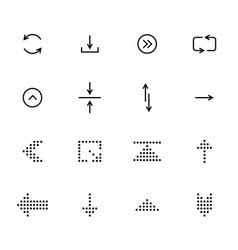 Black arrows icon set pointers for navigation vector