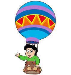 boy in balloon vector image