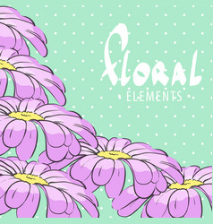 Bright floral postcard vector
