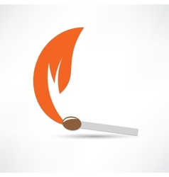 Burning match colored vector