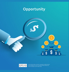 Business idea analytic and opportunity research vector