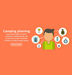 camping planning banner horizontal concept vector image
