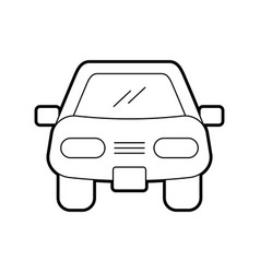 Cartoon car vehicle transport front view icon vector