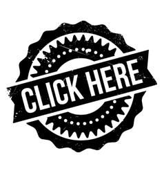 Click here stamp vector