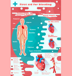 Colorful medical care infographic concept vector