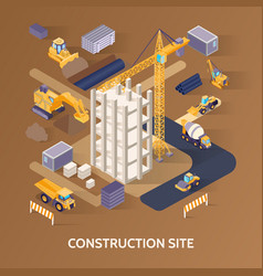 construction site concept vector image