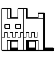 cube dog stencil vector image