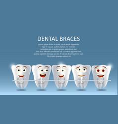 Dental braces concept poster banner vector