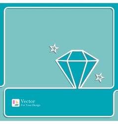 Diamond icon outline vector
