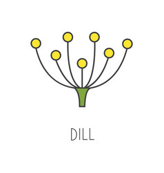 Dill line cooking isolated vector