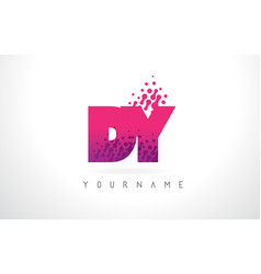 Dy d y letter logo with pink purple color and vector