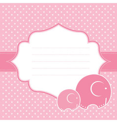 Elephant bagreeting card vector