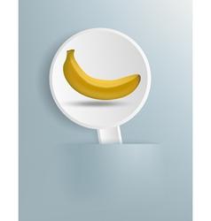 Figure ripe banana on a white plate vector