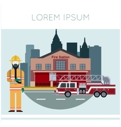 Fire Station Banner11 vector