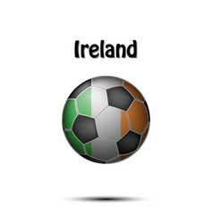 flag of ireland in the form of a soccer ball vector image