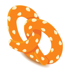 Fresh pretzel icon isometric style vector