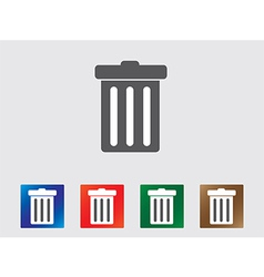 Garbage bin icons vector