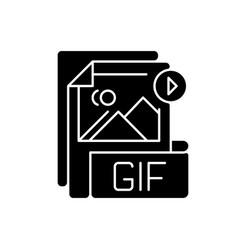 Gif file black glyph icon vector