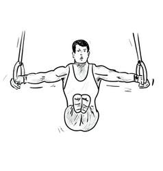gimnastic vector image