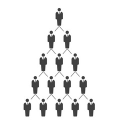 Graphic a hierarchical career vector