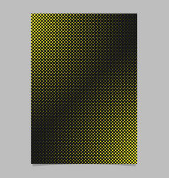 halftone dot pattern page template - brochure vector image