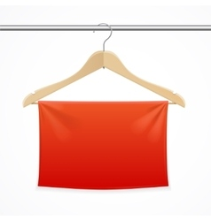 Hanger Fabric Background vector image
