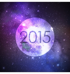 happy new 2015 year abstract background with night vector image