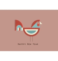 happy new year cock vector image