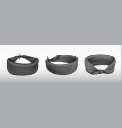 Headband bandana for head or wrist black cloth vector