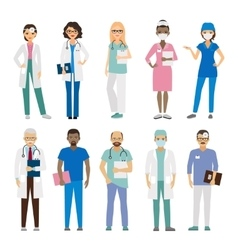 Hospital medical staff vector image