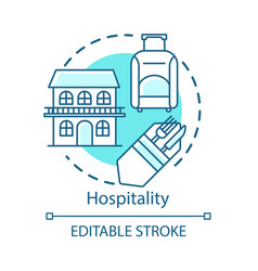 Hospitality concept icon lodging industry vector
