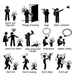 How to handle kid child tantrum outburst stick vector