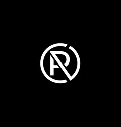 Initial letter r a c logo template with circle vector