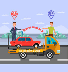 Intercity car delivery service flat vector