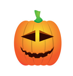 Isolated happy jack-o-lantern vector