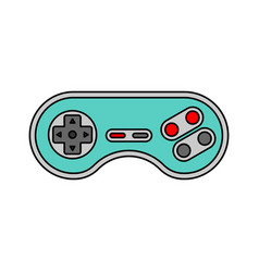 Joystick isolated retro gamepad videogame vector