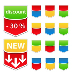 labels vector image vector image