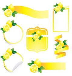 Lemon Label Set vector image